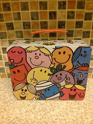 Fab *little Miss And Mr Men* Colourful Tin Box Carry Case