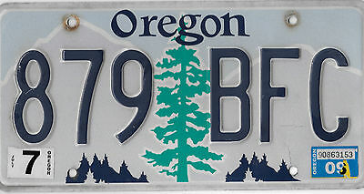 Authentic 2009 Oregon Fir Tree Graphic License Plate # 879 Bfc Bcplateman