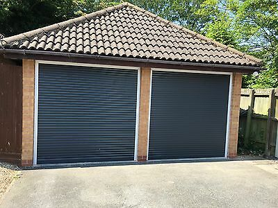 Insulated Compact Electric Roller Garage Door in Anthracite Grey  - NATIONWIDE