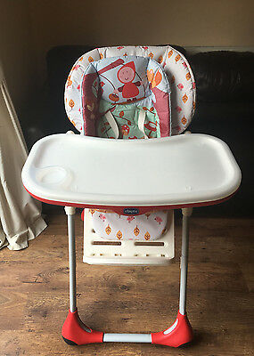 Chico HappyLand Polly Highchair Baby Feeding Height Adjustable Chair