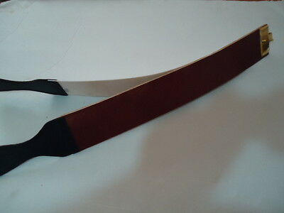 """2.5"""" Wide Tan  Leather Strop/ Strap for Straight Razors"""