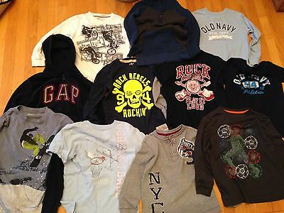 Lot of 11 GAP KIDS / OLD NAVY Assorted Boys Long Sleeve Shirts Size Small 6-7