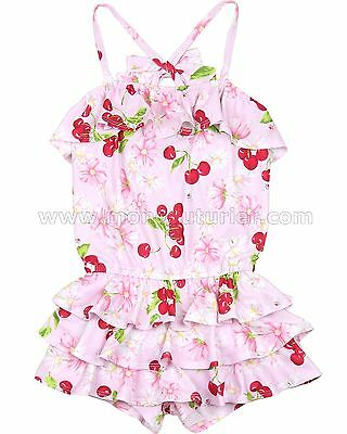 Kate Mack Girls' Romper Cherries Jubilee, Sizes 4-10