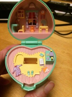 Vintage Polly Pocket Bluebird 1991 Midges Bedtime Compact Ring Case Only