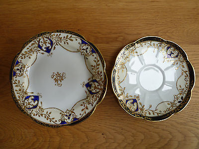 Vintage Noritake gold embossed tea plate and saucer