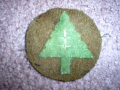 """WWI US Army patch 91st Infantry Division Patch """"Pine Tree"""" AEF"""