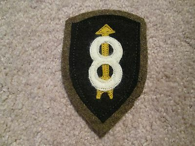 WWI US Army patch 8th Division patch AEF