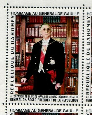 DAHOMEY Visit by French President Charles de Gaulle MNH stamp