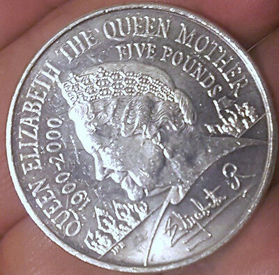 £5 FIVE POUNDS COIN Elizabeth II The QUEEN MOTHER CENTENARY 1900-2000
