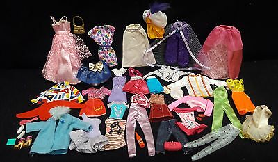 Mixed lot of Barbie Clothing - 45 pieces in the lot - Modern & Vintage - lot # C