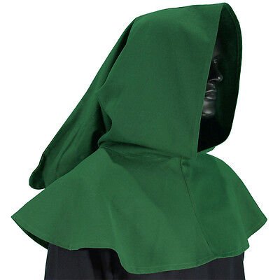 Medieval Durable Medium Weight Brown Cotton Hood Perfect For Re-enactment & LARP