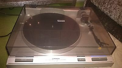 Pioneer PL-340 Record Deck Belt Drive Turntable HiFi Stereo with Audio Technica