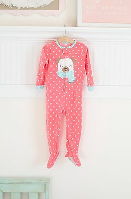 Carters Girls Pink Footed Pajamas Size 3t