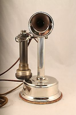 American Electric Fluted Column Candlestick Telephone