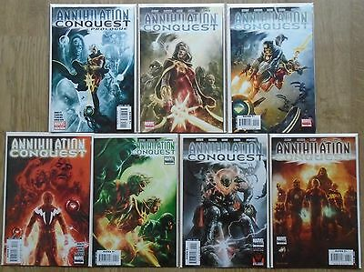 Annihilation Conquest Prologue & #1-6 Full Set. 1st App new Guardians of Galaxy.