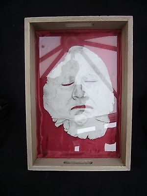 USABLE WOODEN TRAY WITH FACE SKIN UNDER GLASS......38 X 24 cm