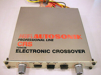 CROSSOVER ELETTRONICO AUTOSONIC CRS-7204 A  DUE VIE LOW/HIGH IMPEDENZA *Perfetto