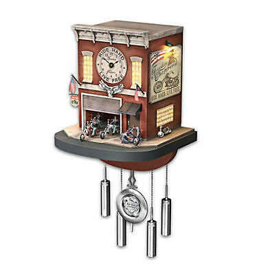 """""""Freedom Choppers"""" Cuckoo Clock With Lights, Sound, Motion"""