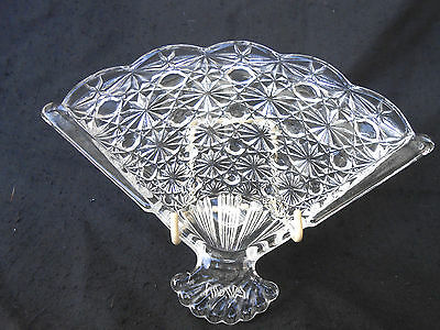 Vintage Avon Cut Glass Fan Shaped Hostess Soap Dish