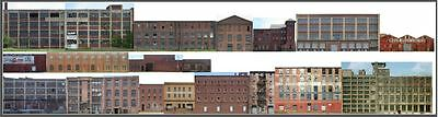 #402 HO scale 18 background buildings INDUSTRY SET WITHOUT FOAM CORE FREE SHIP