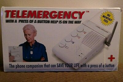 Telemergency Pro-Elite 700C w/ Wireless Pendant Feel Secure No Monthly Fees