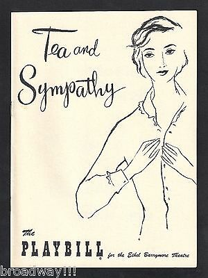 """Joan Fontaine """"TEA and SYMPATHY"""" Anthony Perkins (Broadway Debut) 1954 Playbill"""