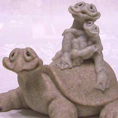 Quarry Critters 3 Turtle Figurine MIB Fric and Frac's Free Ride New Friendly FUN