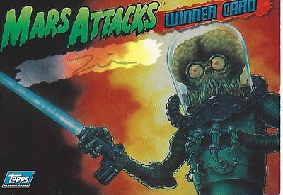 Mars Attacks! Archives 1994 Zina Autographed Card Limited To 2000 +2 Wrappers!