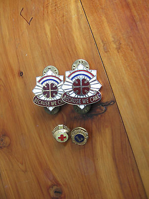 Military Medical Pin Lot Of 4 W/ Ira Green
