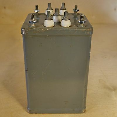 Raytheon Ux-6392 Tube Amp Power Transformer, 870Vct@ 90Ma, Nos!