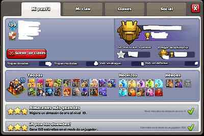 CLASH of CLANS COC TOWN HALL LVL10 Change Name QUEEN-KING Lvl30 Max Troops