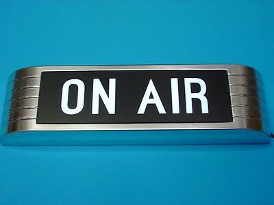 Replica ON-AIR  Recording Studio Sign old chrome RCA style lightup sign VINTAGE