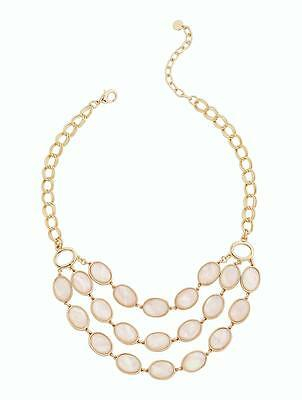 Talbots Mother-Of-Pearl Cabochon Necklace