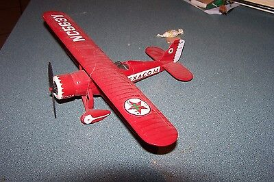 TEXACO 14 Diecast Aircraft Bank; Bi-wing; EXC