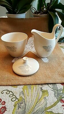 Stetson Marcrest China Creamer and Pitcher/Blue Spruce Pattern