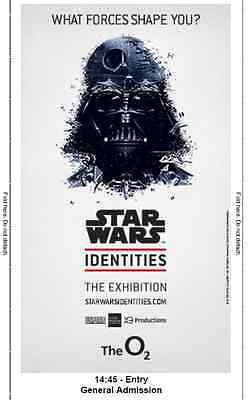 Star Wars Identities Exhibition Tickets X 4 tickets 02 Arena 21st January