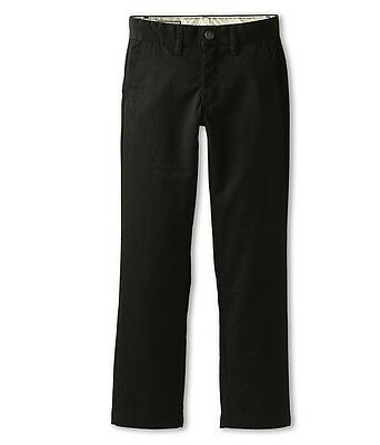 Volcom NEW Deep Black Boys Size 10 Classic Flat-Front Chino Pants $45 192 DEAL