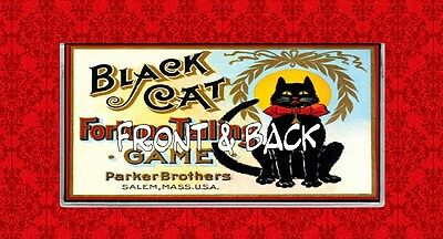 Black Cat Fortune Telling Game Vintage Vinyl Checkbook Cover