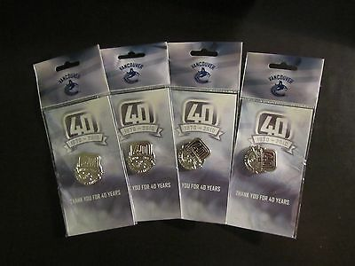 Vancouver Canucks 40th Anniversary Team Pin