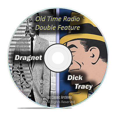 Dragnet, Dick Tracy, 443 Shows, ALL Known Episodes, Old Time Radio, OTR, DVD F61
