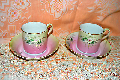 Russian Gardner Antique Porcelain 2 cups+2 saucers to be sold together.
