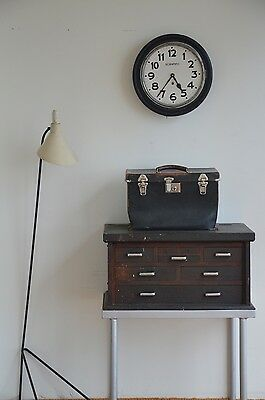Antique Vintage Engineers Tool Makers Chest on Stand