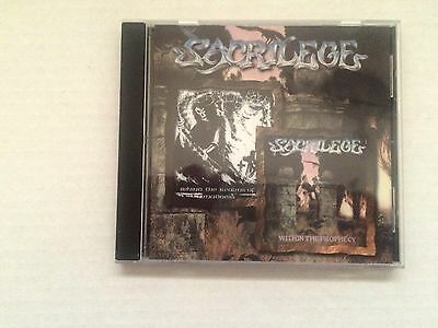 Sacrilege - Within The Prophecy/behind The Realms Of Madness Cd 1998 Brand New