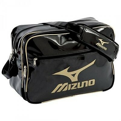 New MIZUNO Enamel bag L 16DA307 Black x Gold x Gold Japan import Free Shipping