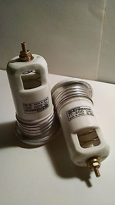 NEON SIGN Ceramic Housing TC-300 High Voltage Spring Connector 7500v (2) Transco