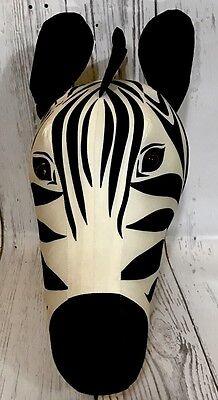 Striped Zebra Head/Bust Hanging Wall Mounted Home Decor Statue Collectible