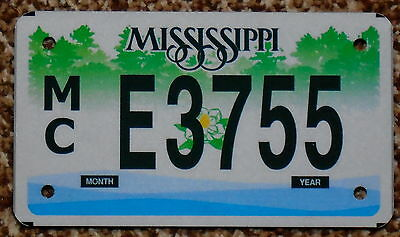 MISSISSIPPI Magnolia Flower Motorcycle License Plate MC E3755