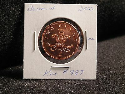 Uk (Great Britain):  2000   2  Pence  Coin ( Unc. )  (#2468) Km #987