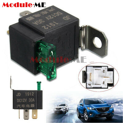 12V 30A 4 Pin 4P Metal Heavy Duty Car Motor Automotive Fuse Fused Relay SPST MO