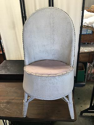Vintage Antique Shabby Cane Seagrass Chair Armchair
